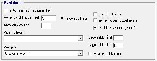 Webbplats grunduppgifter - funktioner